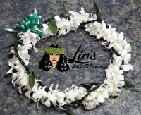 Orchid and Ti Leaf Braid Wrap